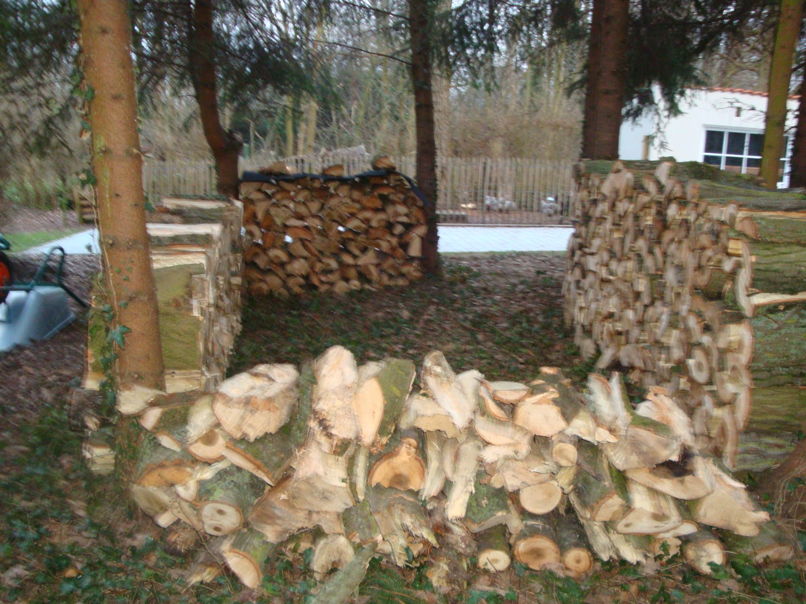 Stockage de bois les m sanges - Bucher stockage bois ...
